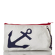 Sea Bags Large Wristlet - Navy Anchor