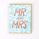 Egg Press Mr. & Mrs. Card