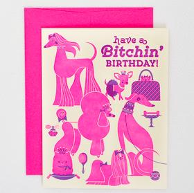 Egg Press Bitchin' Birthday Card