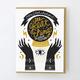 Egg Press Crystal Ball Card