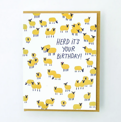 Egg Press Herd It's Your Birthday Card