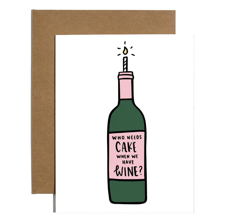 Brittany Paige Cake? Wine Birthday Card