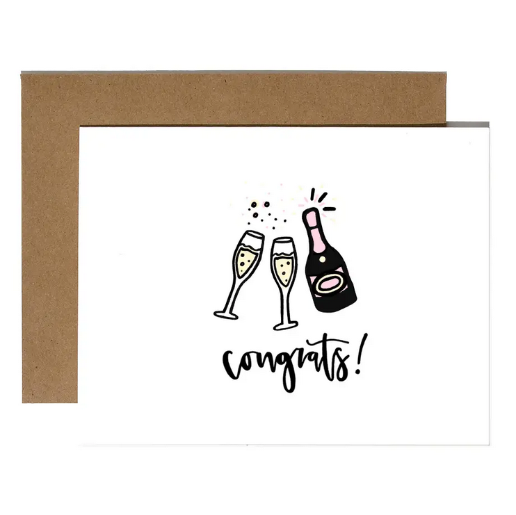 Brittany Paige Congrats! Champagne Card