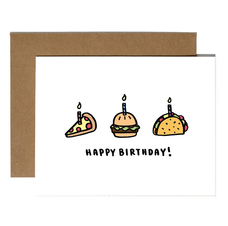 Brittany Paige Happy Birthday Foods Card