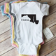 Paper Cow Clothing Home Maryland Onesie