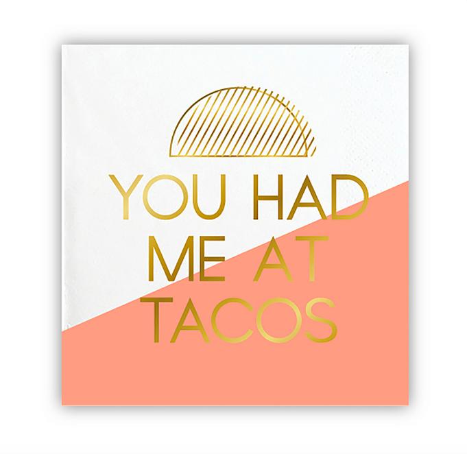 Slant Beverage Napkins - Tacos