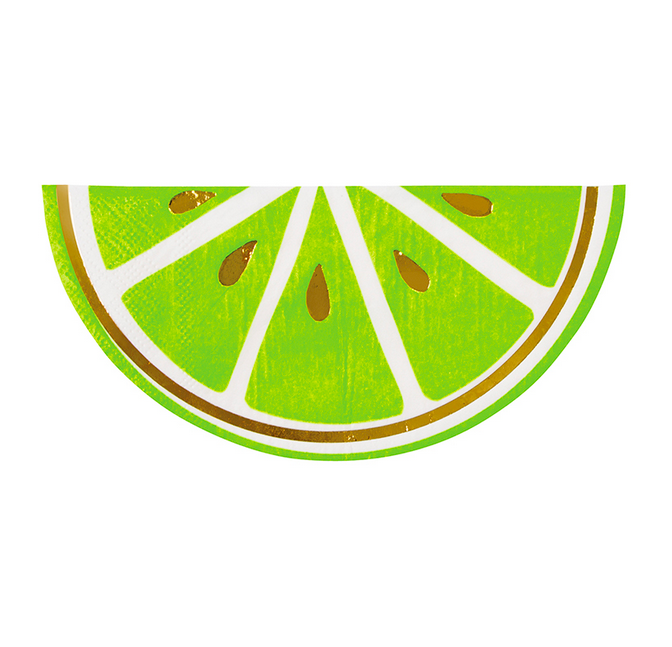 Slant Beverage Napkin - Lime