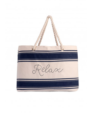 Ever Ellis Canvas Beach Tote - Relax