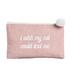 Ever Ellis Canvas Cosmetic Bag - Cat Text