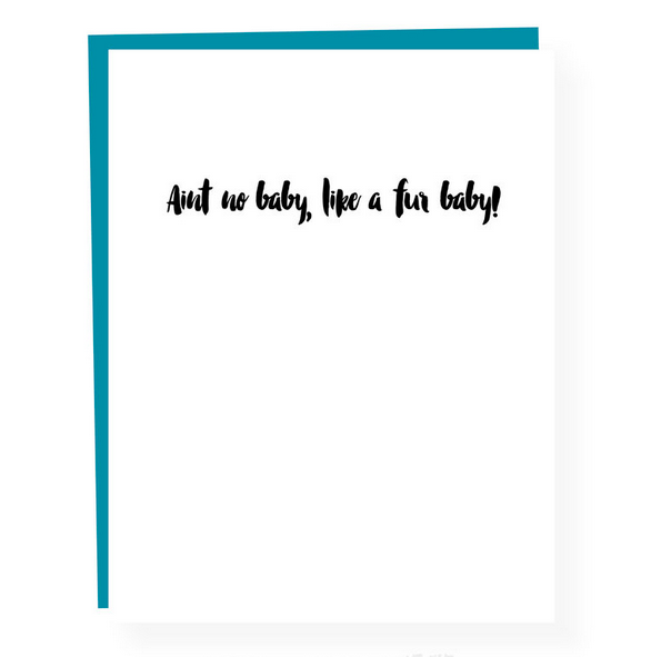 Paper Ephipanies Fur Baby Congrats Card