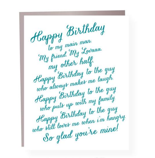 Paper Ephipanies Lover Rant Birthday Card