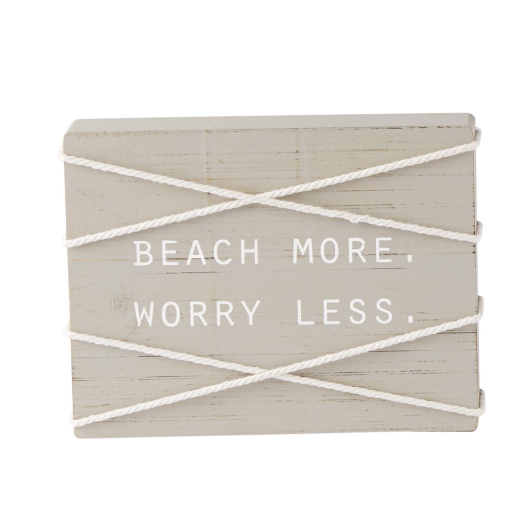 Mud Pie BEACH MORE BLOCK PLAQUE