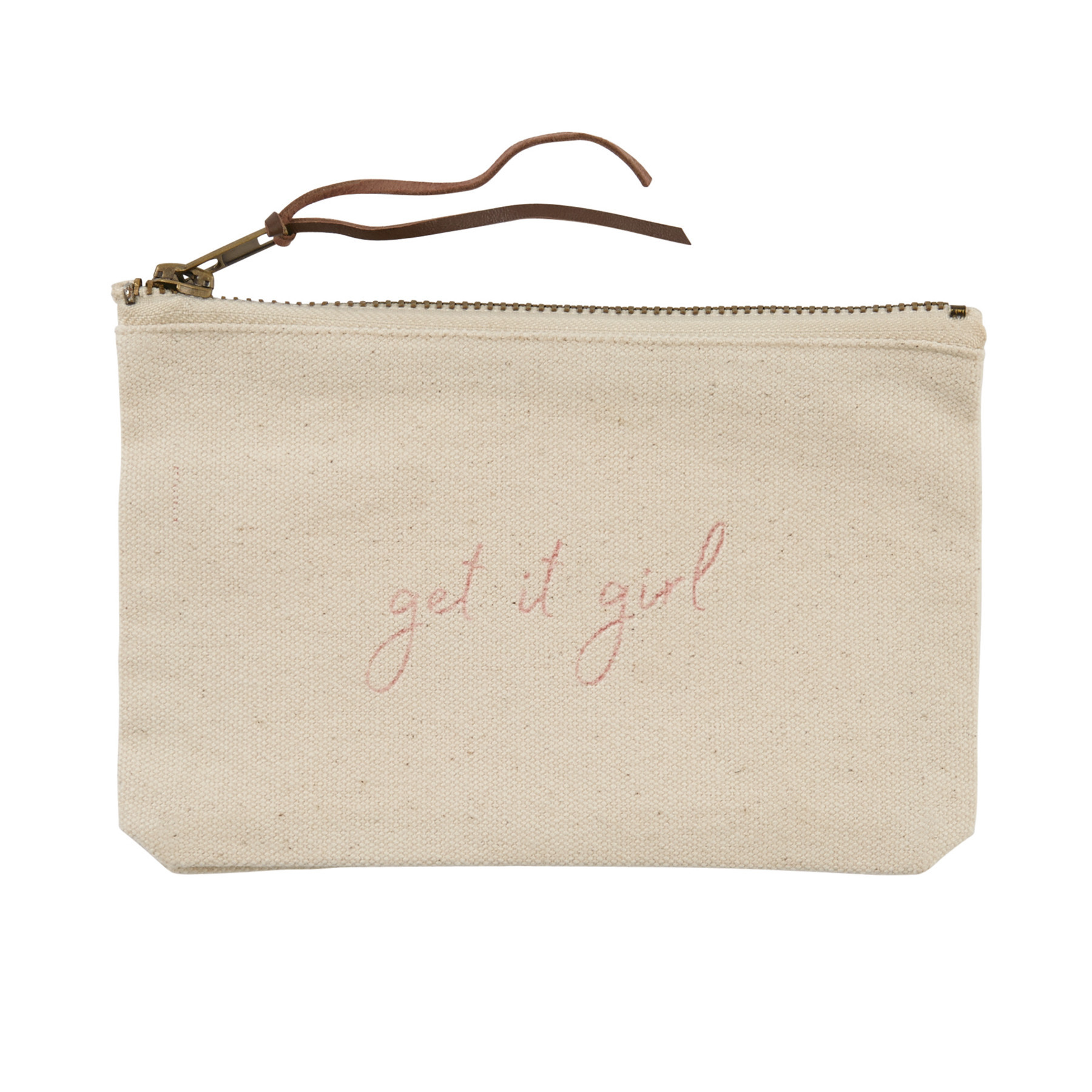 Mud Pie GET IT GIRL CANVAS POUCH