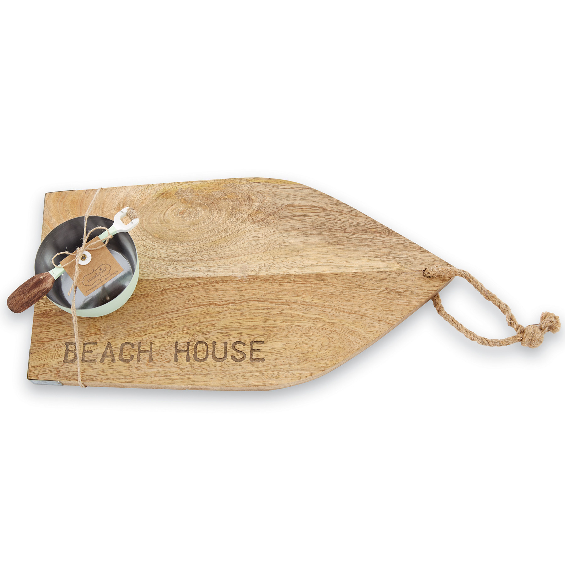 Mud Pie BEACH HOUSE BOARD WITH DIP CUP