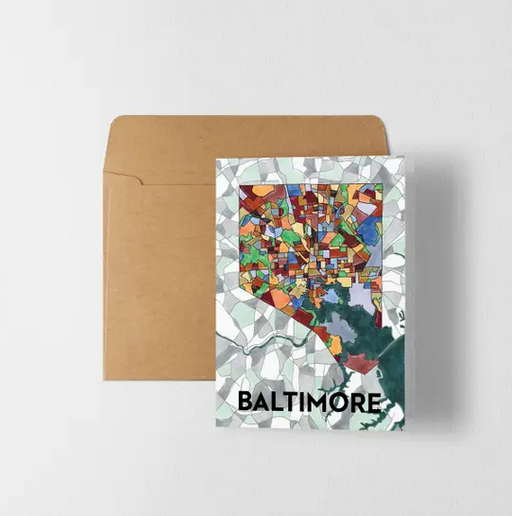 "5"" x 7"" Baltimore Greeting Card"