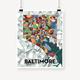 "8"" x 10"" Baltimore Art Print"