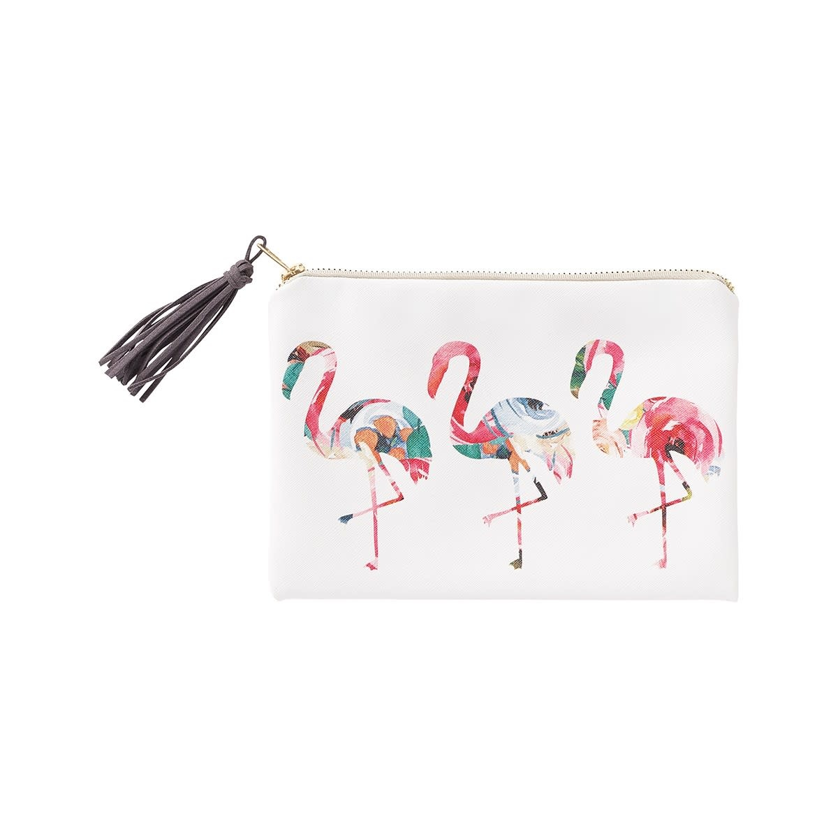 Collins Painting Floral Flamingo Cosmetic Bag