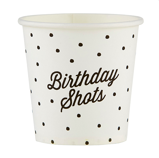 Creative Brands Birthday Shots - Shot Cup 10pk