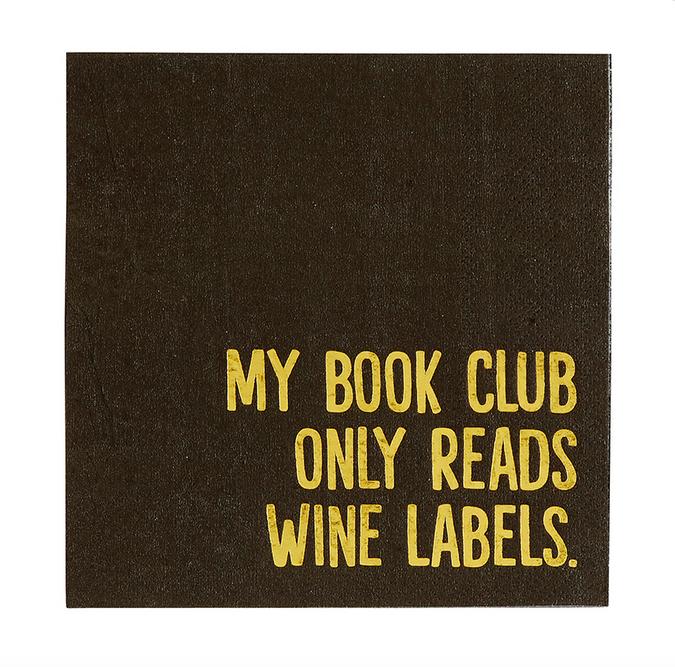 Creative Brands Cocktail Napkin - Book Club