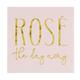 Creative Brands Cocktail Napkin - Rose