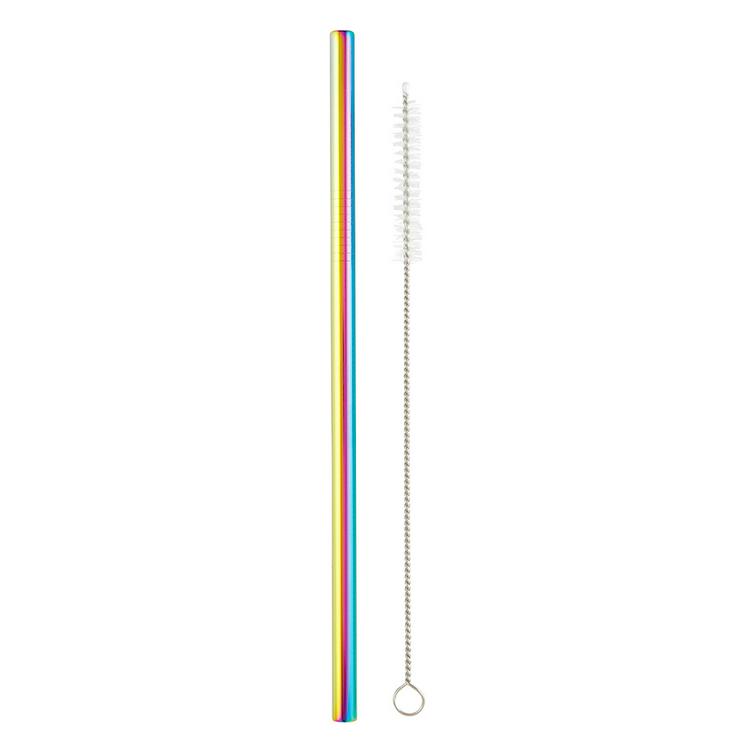 Creative Brands Iridescent Stainless Steel Straw