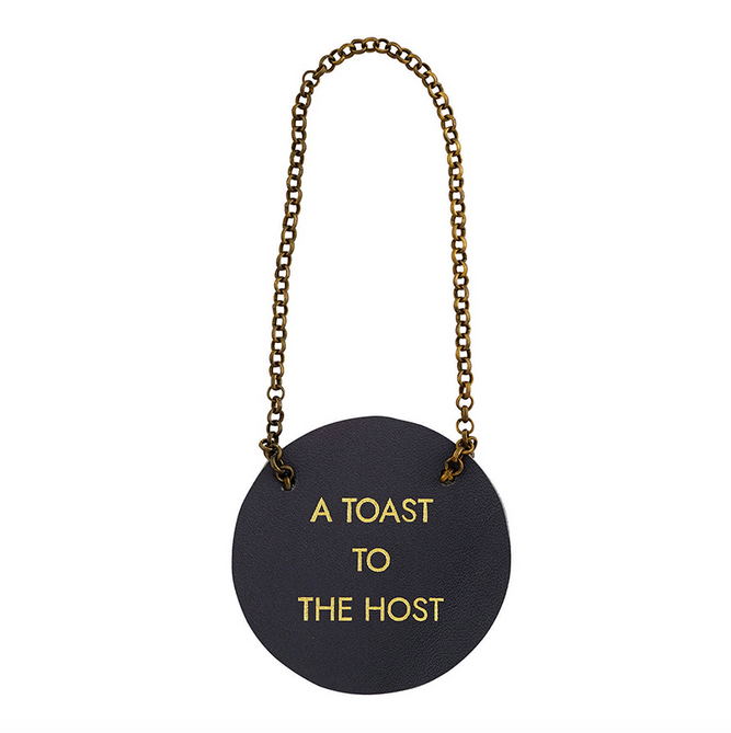 Creative Brands Leather Bottle Tag - Toast