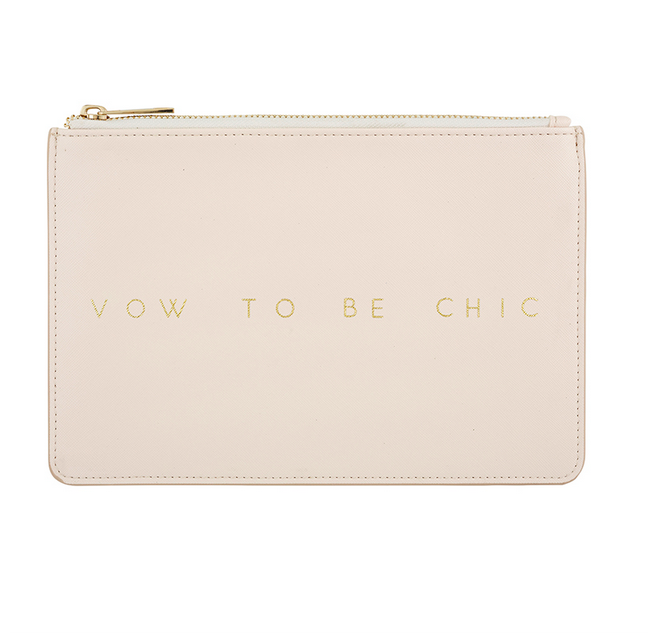 Creative Brands Leather Pouch - Blush