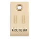Creative Brands Leather Tag w/ Earrings - Bar