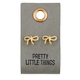 Creative Brands Leather Tag w/ Earrings - Bow