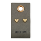 Creative Brands Leather Tag w/ Earrings - Heart