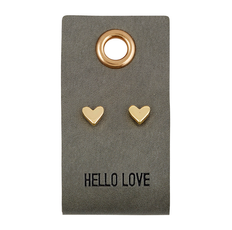 Creative Brands Leather Tag Earrings - Heart