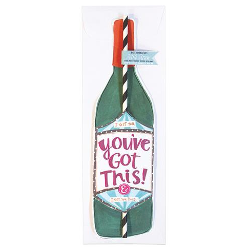 Curly Girl You've Got This Wine Straw
