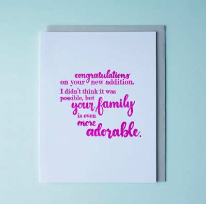Adorable Family Baby Card