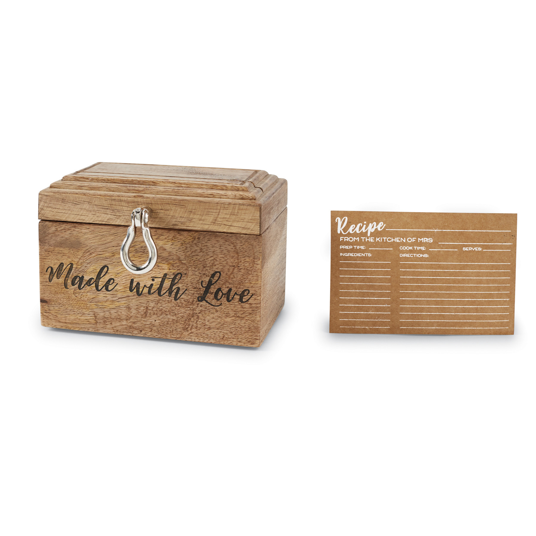 Mud Pie BRIDAL RECIPE BOX SET
