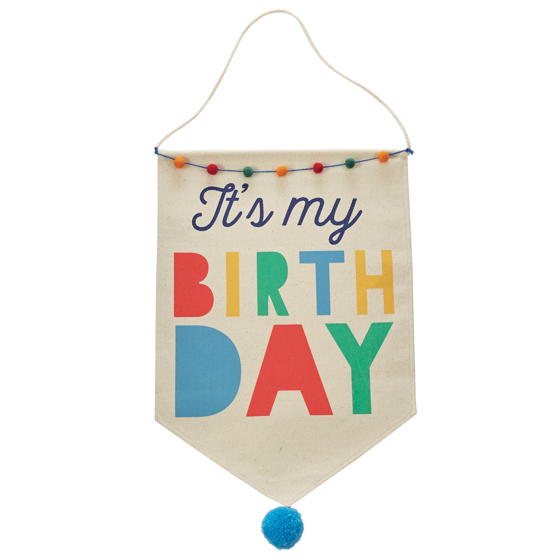 Mud Pie BOY BIRTHDAY CANVAS BANNER