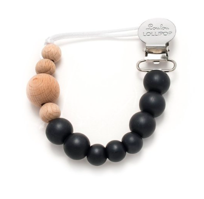 Loulou Lollipop Black Pacifier Clip