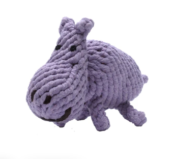 "Jax & Bones Hippo Jumbo 12"" Rope Dog Toy"