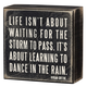 Primitives By Kathy Box Sign - Dance In The Rain