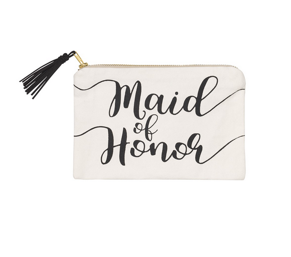 Collins Painting Maid of Honor Cosmetic Bag
