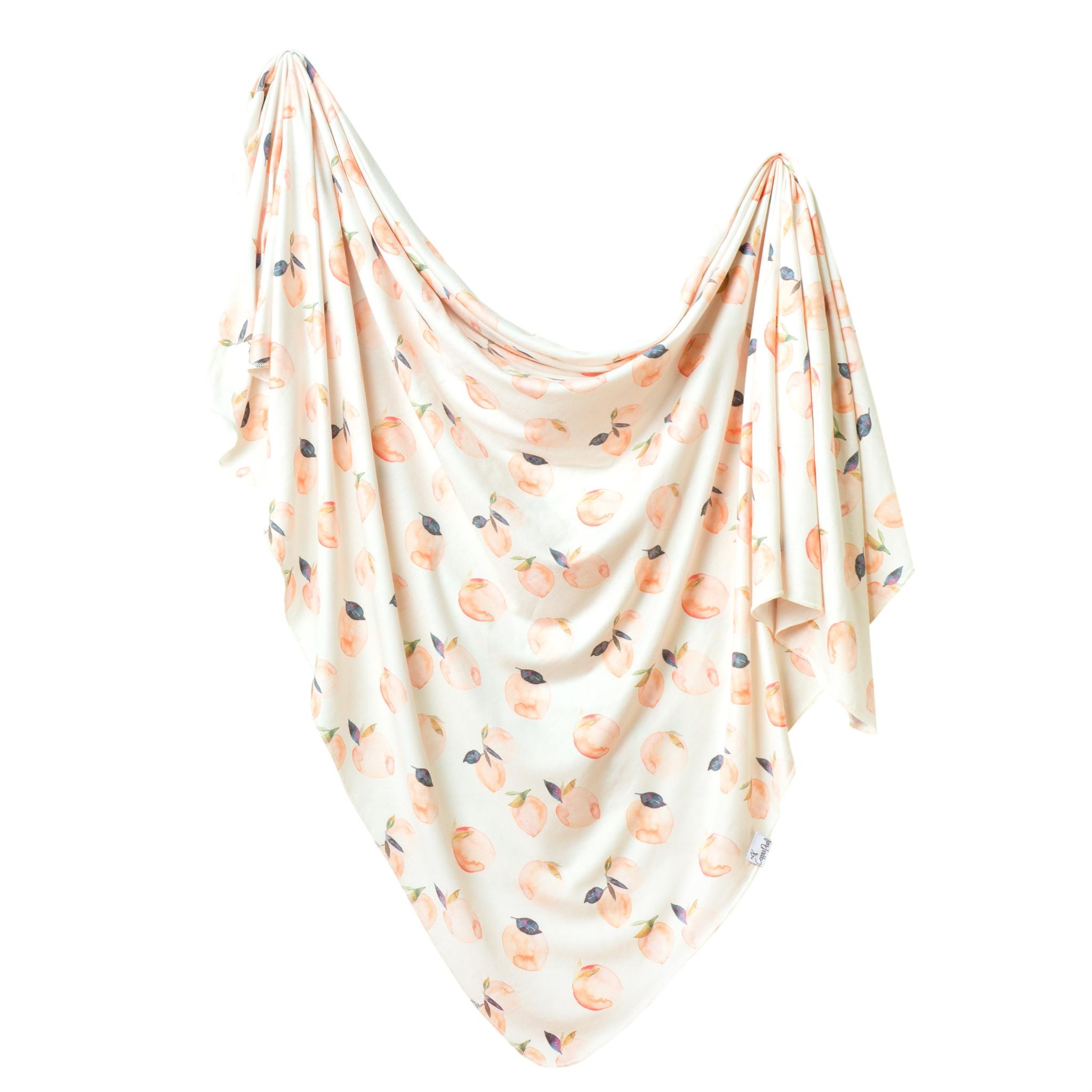 Copper Pearl Knit Swaddle Blanket Caroline
