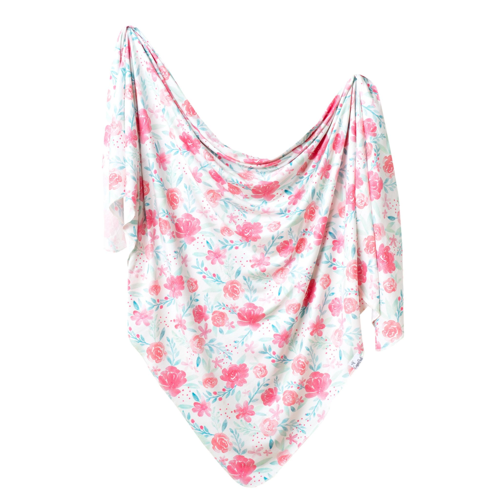 Copper Pearl Knit Swaddle Blanket June