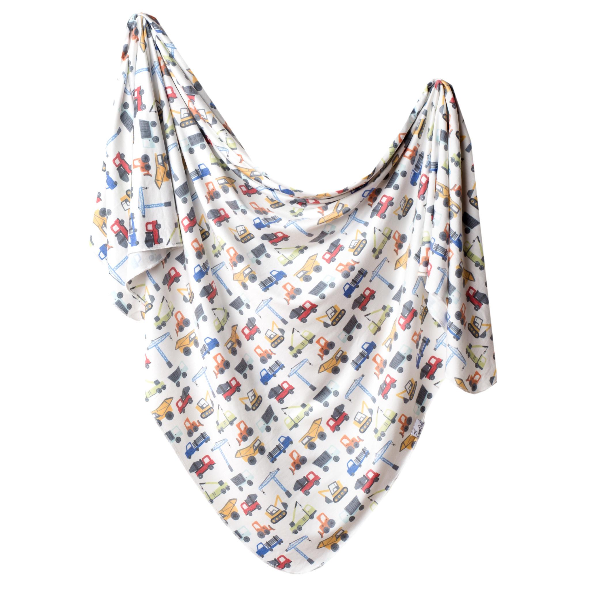 Copper Pearl Knit Swaddle Blanket Diesel