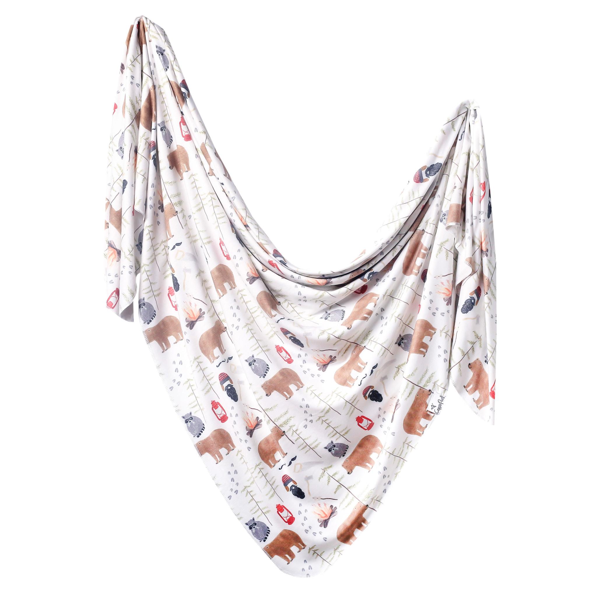 Copper Pearl Knit Swaddle Blanket Lumberjack