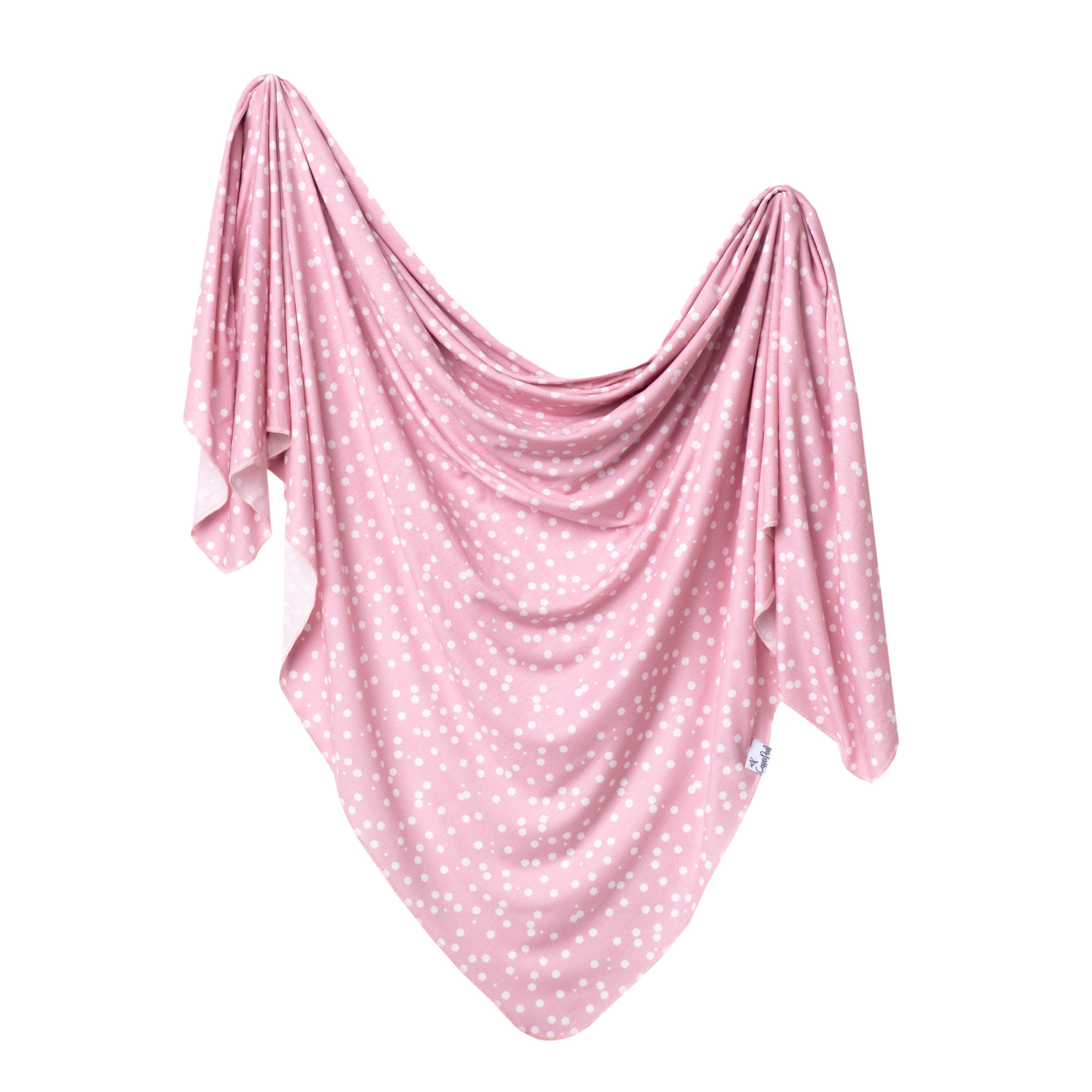 Copper Pearl Knit Swaddle Blanket Lucy