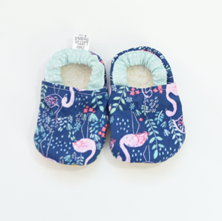 Two Little Beans Flamingo Booties
