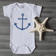 Tidal Effects Blue Anchor Onesie