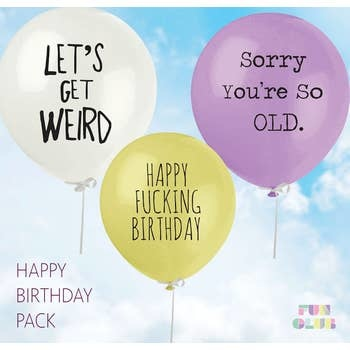 FUN CLUB Happy Birthday Balloon 3 Pack