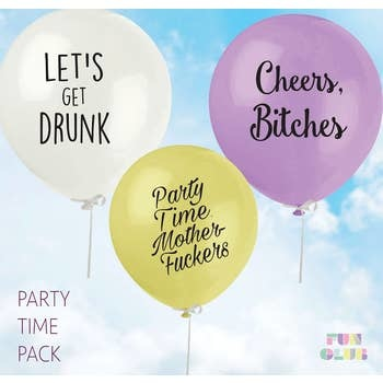FUN CLUB Party Time Balloon 3 Pack