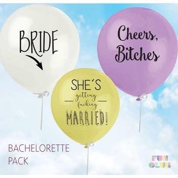 FUN CLUB Bachelorette Balloon 3 Pack