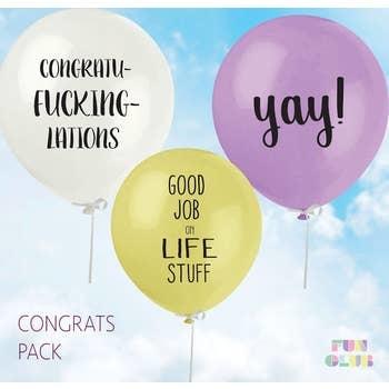 FUN CLUB Congrats Balloon 3 Pack